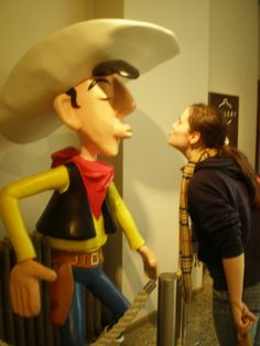Me and famous comic star, Lucky Luke