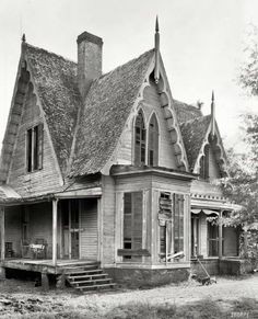 Knight House, Greensboro vicinity, Hale County, Alabama. Gothic Revival two-story frame built c. 1840