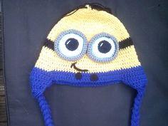 Chrochet Minion hat ,adult
