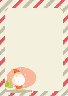 free printable: Christmas.  cute for letters to Santa - if we decide to do the whole Santa thing