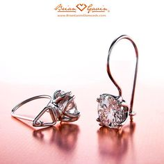 V-Prong Lever Backs Diamond Studs | Brian Gavin Diamonds™ pretty simple setting