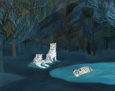 linda kim via design-conundrum.blogspot.com | See more about White Tigers, Dark Forest and Artists.