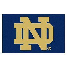 Notre Dame University 5 ft. x 8 ft. Ulti-Mat, Team Colors - Option A