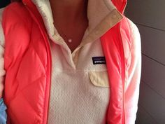 Patagonia pullover and a Jcrew vest♡. Something other than pink though.