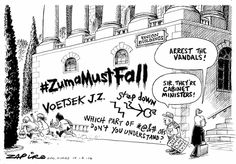 Exit plan for Zuma Jacob, exit stage right, enter cell left. Jacob Zuma, Religion And Politics, How To Plan, Cartoons, Prints, South Africa, Stage, Country, Funny