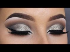 HOW TO create a glitter cut crease - MAKEUPBYAN - YouTube