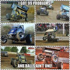 AWESOME Sprint Car Racing, Real Racing, Dirt Track Racing, Car Memes, Car Humor, Girls Race, Race Quotes, Speedway Racing, Race Day