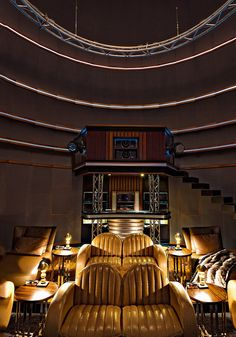 Art Deco Home Theater    @DestinationMars *This might have won me over for art deco*