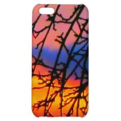 Sunset iPhone 5C Case #Sunset #Branches #Tree #iPhone #Case #Colorful