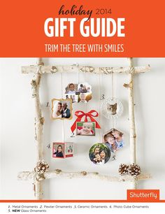 Add photos to ornaments for a gift they'll enjoy year after year.