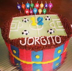 Futbol fondant cake