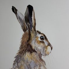 Original Watercolour of a hare 17/1 – Ginger Hare Art