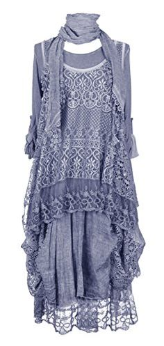 Ladies Womens Italian Lagenlook Quirky Layering LONG 3 Piece Sequin Crochet Lace Long Sleeves Scarf Tunic Top Dress One Size Plus UK 12-20 (One Size Plus, Cornflower Blue) Generic http://www.amazon.co.uk/dp/B00WELWGUK/ref=cm_sw_r_pi_dp_6qsQvb0F0V1Q0