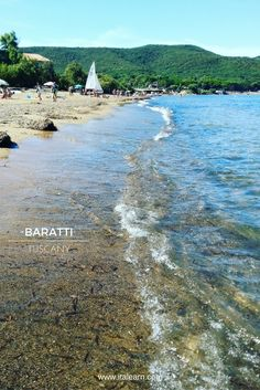 Baratti, the Etruscan Bay. Just... awesome! You don't see it from the picture, but the sand in Baratti is very dark and shimmering due to iron residue