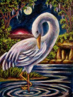 Swamp Crane by Sebastian Pierre