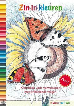 colouring book for adults- therapeutic  bol.com   Zin in kleuren / 1 + Kaart met 100 deugden, Marja Van 'T Wel   Boeken