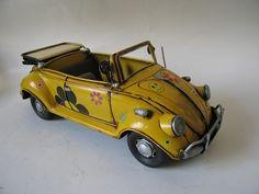 1952 vw beetle convertible metal model  what fun