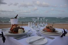 Enjoy dinner on the beach with someone special at Breathless Punta Cana!