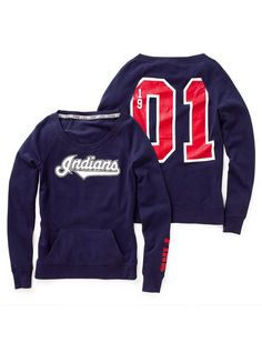 Cleveland Indians Pullover Fleece Crewneck $52.50 Victoria's Secret