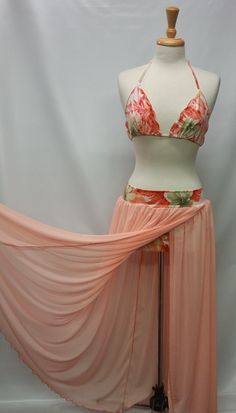 Tropical Swim suit and cover up (only 1 left) by BozLuna on Etsy