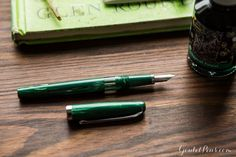 This fountain pen is green and great! I want this Noodler's Jade Nib Creaper.
