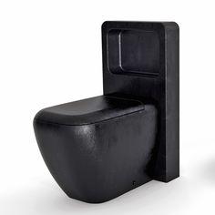 Modern black toilet