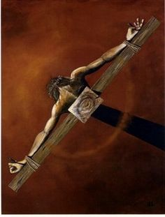 """And God Saw"" by Kent L. Drake.  Being that it's Holy Saturday and Easter Weekend this print came to my mind.  It's my favorite art print of Jesus being crucified. ---> YES! He is El Roi - THE GOD WHO SEES ~"