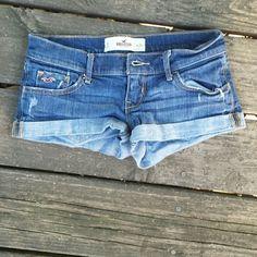 Hollister jean shorts Hollister jean shorts. Size 0. Hollister Shorts Jean Shorts