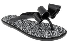 530f86342ddea2 Capelli New York Jelly Bow  amp  Thong Ladies Flip Flop On A Lace Printed  Sock