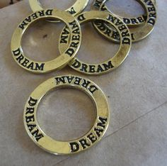 Dream Word charm craft charm | Artsy_Effects - Craft Supplies on ArtFire