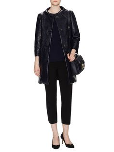 Erika Lacquered Tweed Coat by kate spade new york at Gilt