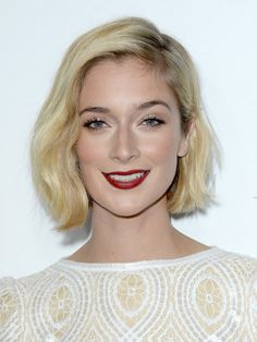2014 Caitlin Fitzgerald's Short Hairstyles: Classic Blonde Bob Cut