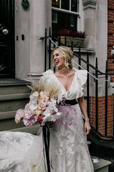 We are head over heels in love with this gorgeous orchid bouquet | Image by Epic Love Story Luxury Wedding, Wedding Bride, Floral Wedding, Wedding Blog, Wedding Stuff, Wedding Flowers, Bouquet Images, Wedding Flower Inspiration, London Wedding