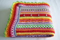Prachtige deken haken met verschillende patronen beschrijving op de site