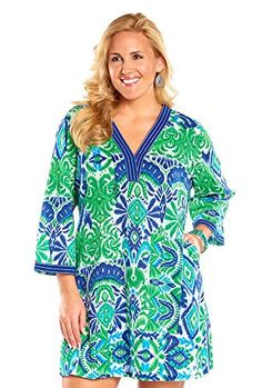 Always For Me Plus Size Caribbean Sea Tunic Coverp * Want additional info? Click on the image.