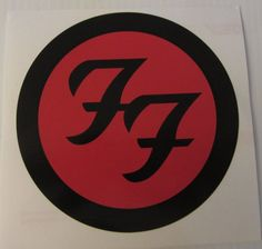 """FOO FIGHTERS DECAL, Foo Fighters Sticker, Car Window Decal, Dave Grohl, Sticker Red & Black 7"""""""