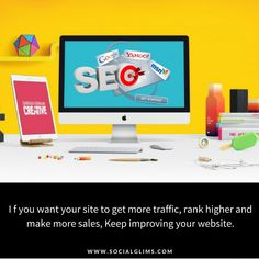 I f you want your site to get more traffic, rank higher and make more sales, Keep improving your website.  #tips #socialmediatips #strategy #socialmediaanalysis  #marketing #socialmedia #socialmediamarketing #socialglims #dubai #expo2020 #contentmarketing #business  #trending #facebook #infographics #insights #statistics #marketers #SocialNetwork #marketers #socialmediaEngagement #objectives #customers  #searchEngines  #seo #seotips #website #organicseo