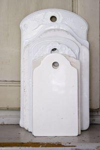 antique porcelain cutting boards...cool! | i DECORATE | Pinterest ...