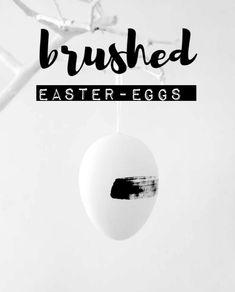 easypeasy DIY - brushed easter eggs Tutorial on www.dein-einzelstueck.de
