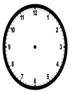 Image result for clock faces to print (With images