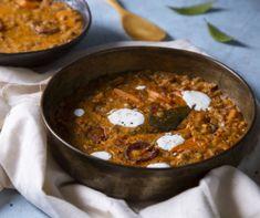 Szerencsehozólencsefőzelék 20 perc alatt recept | Mindmegette.hu Curry, Ethnic Recipes, Food, Curries, Essen, Meals, Yemek, Eten