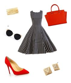 Untitled #11 by queenbeebitches on Polyvore featuring Christian Louboutin, Charlotte Russe and Una-Home