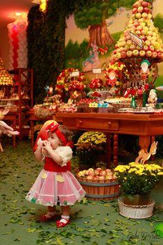 Festa de aniversário   Vestido Infantil   Branca de Neve e os Sete Anões   Disney   Julia
