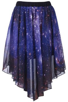 Starry Night Asymmetric Skirt; would also be awesome for a Doctor Who outfit.