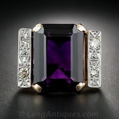 Retro Amethyst and Diamond Ring - 30-3-3544 - Lang Antiques