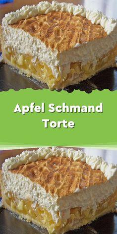 Apfel – Schmand – Torte - Zutaten: 175 g Butter 160 g Zucker 200 g Mehl 1 T. - Apfel – Schmand – Torte – Zutaten: 175 g Butter 160 g Zucker 200 g Mehl 1 TL Backpulver 1 Ei - Fancy Desserts, Italian Desserts, Apple Sour Cream Cake, Apple Cake, Illustration Dessert, Chocolate Tres Leches Cake, Biscuits, Torte Recipe, Dessert For Two