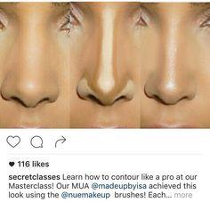 Contour - Beauty tips - Make Up İdeas Makeup Goals, Makeup Inspo, Makeup Inspiration, Makeup Ideas, Nose Makeup, Skin Makeup, Simple Makeup, Natural Makeup, Creative Makeup