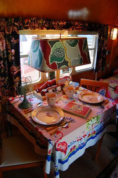 Lovely vintage trailer interior