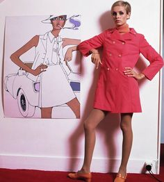 Twiggy photographed by Ron Falloon in 1967
