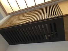 Air Conditioner Cover Indoor, Diy Air Conditioner, Living Room Partition Design, Room Partition Designs, Cafe Design, Wood Design, Interior Design, Ac Cover, Air Conditioning Units
